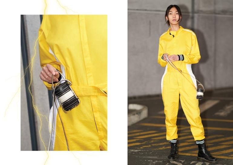 Jumpsuit: Deep Fake Inc.  Bag: Nasha Made in Mars