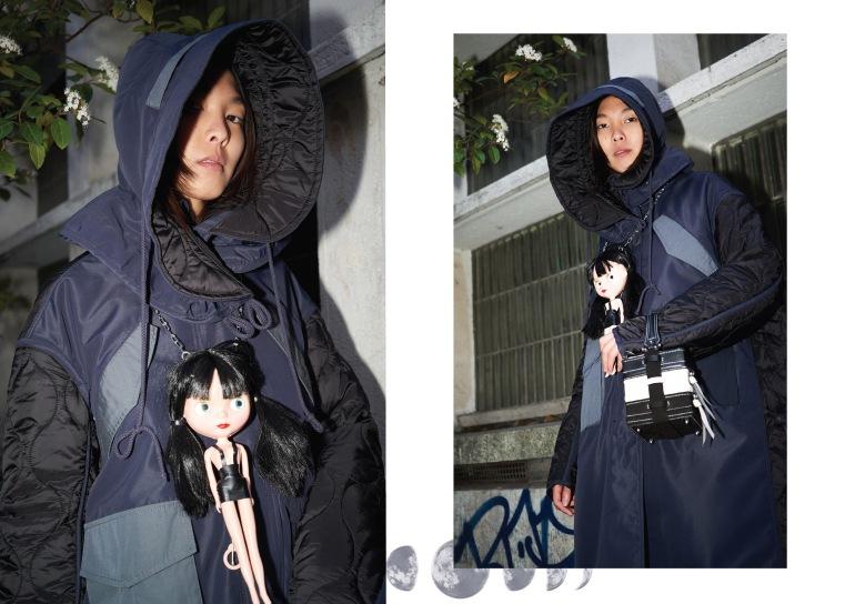 Coat: SoloCeleb | Necklace Doll: Simon Cracker | Bag: NASHA - Made in Mars